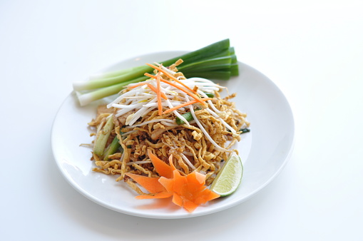 crispy chicken pad thai rice noodles stirfried with egg