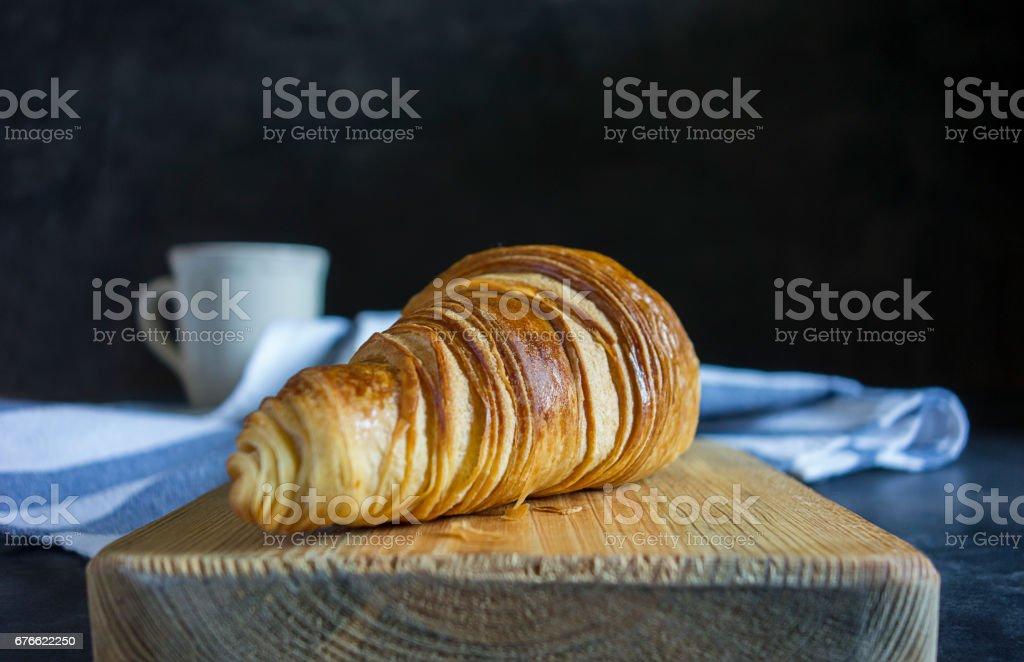 crispy croissant stock photo
