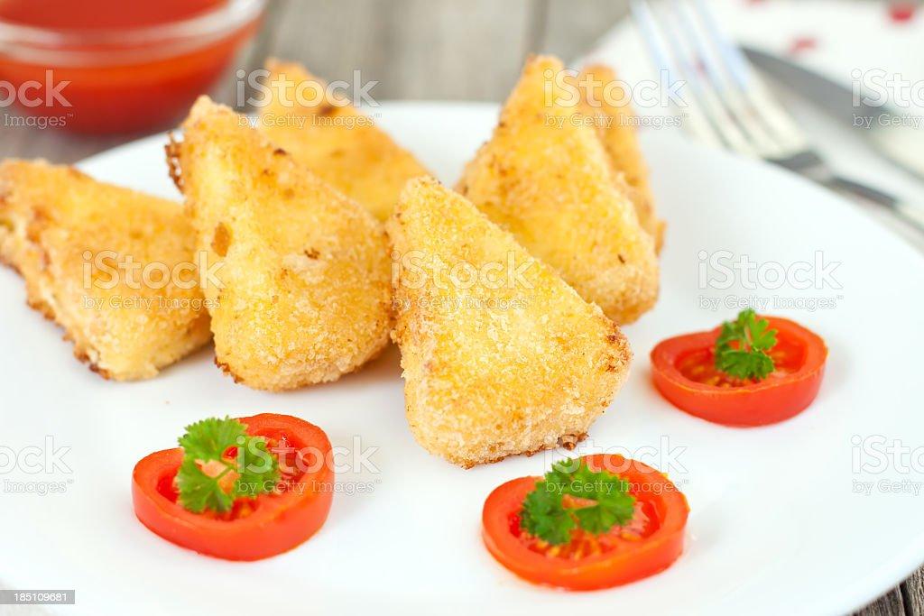 Crispy Fried Cheese stock photo
