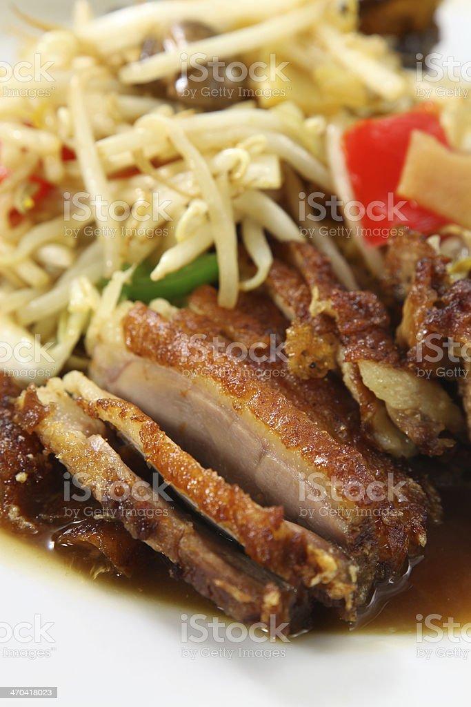 Crispy fried duck or Ente kross royalty-free stock photo