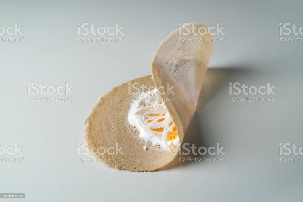 Crispy Pancakes crepes stock photo