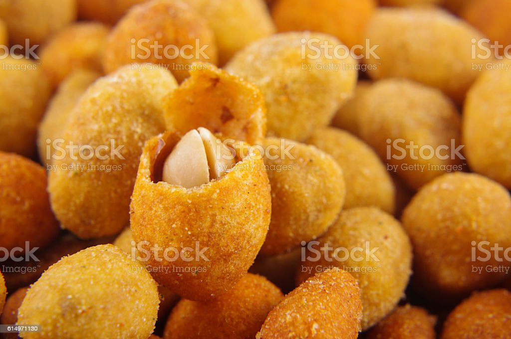 Crispy peanuts snacks stock photo