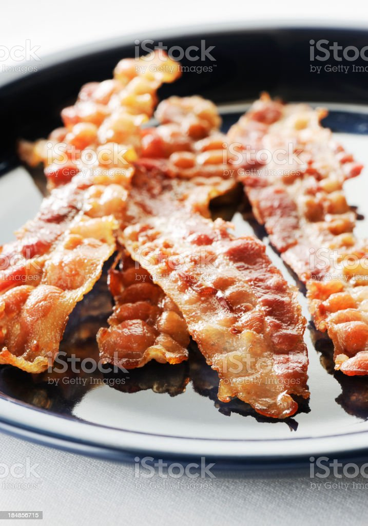 Crispy sliced bacon royalty-free stock photo