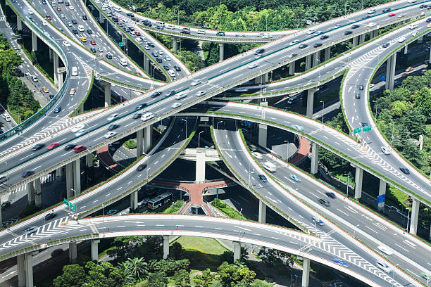 criss-cross car flow crisscross stock pictures, royalty-free photos & images