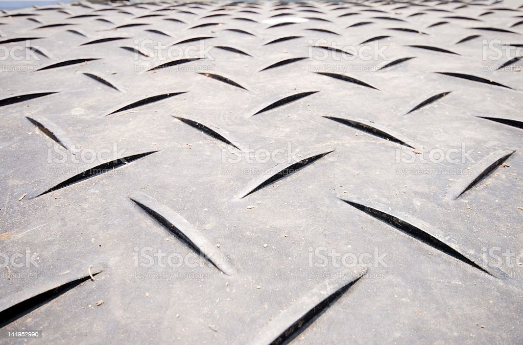 Crisscrossed Non-Skid Surface, Wide Angle Lens royalty-free stock photo