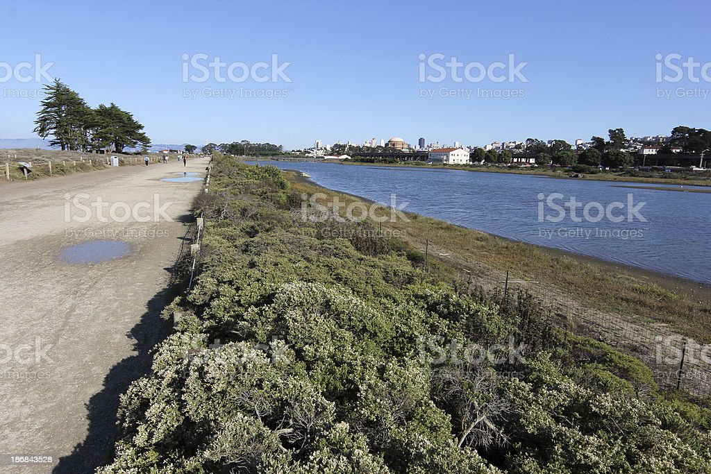 Crissy Field in San Francisco, California royalty-free stock photo