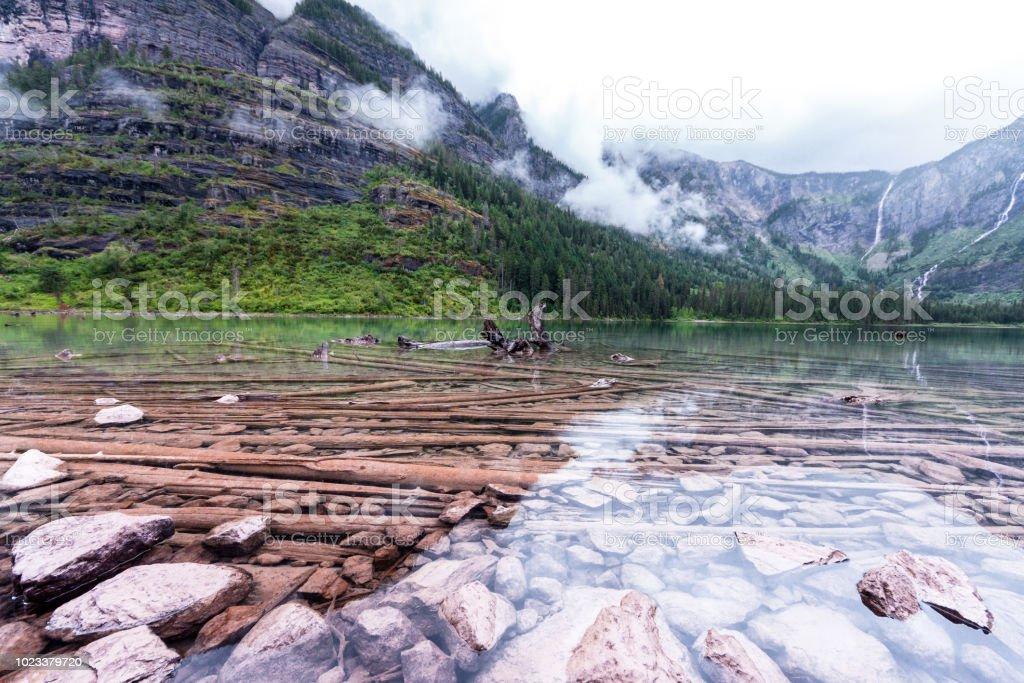 Cristal clear lake stock photo