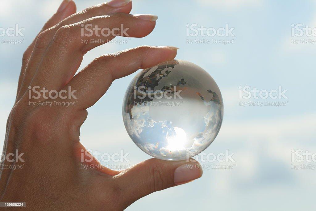 cristal globe royalty-free stock photo