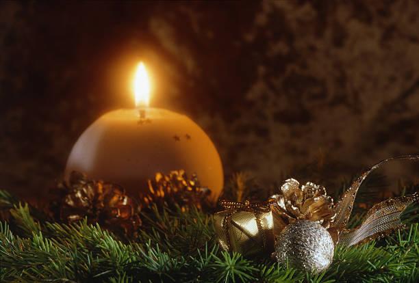 Cristmas candle. stock photo