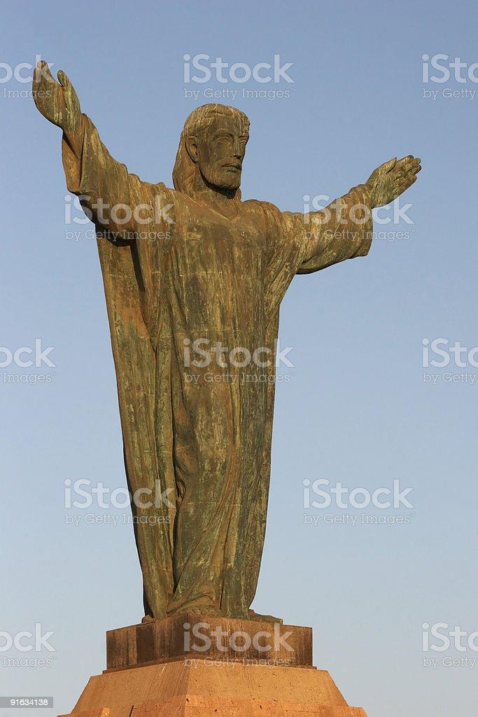 Cristo De La Concordia in Arica royalty-free stock photo