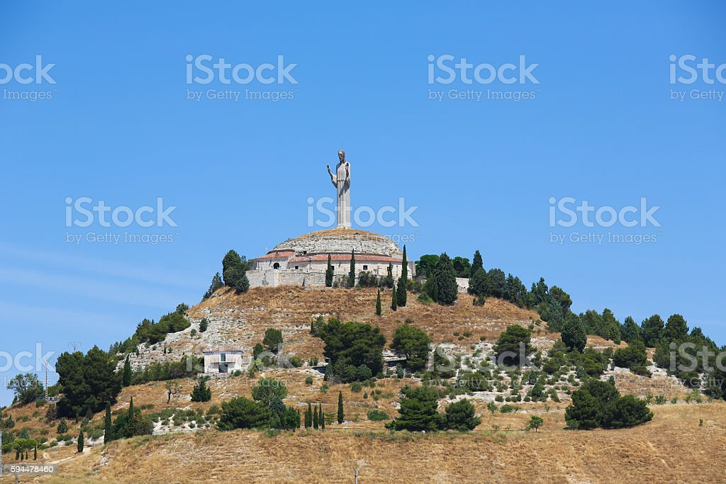 Cristo del Otero in Palencia, Spain stock photo