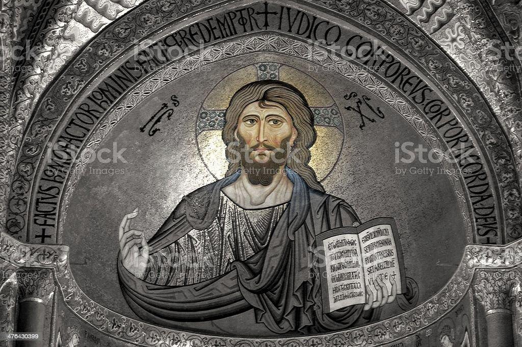 Cristo Pantocratore royalty-free stock photo