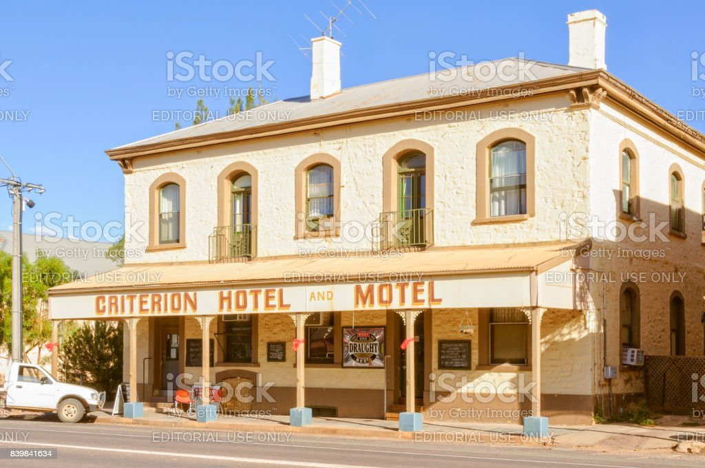 Criterion Hotel Motel - Quorn stock photo