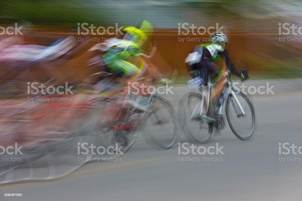 Criterium Road Bike Race stock photo