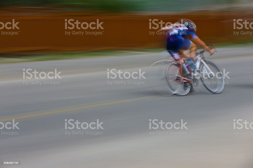 Criterium Road Bike Racer stock photo