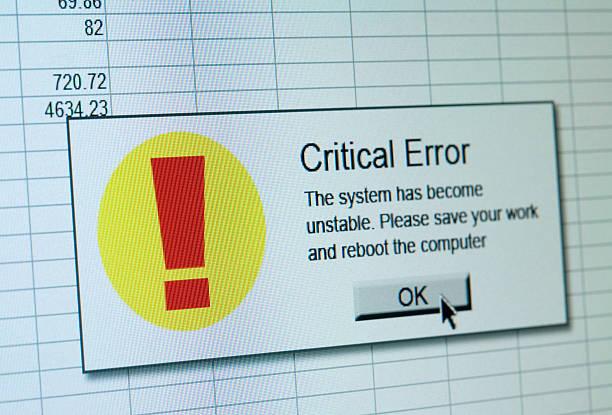 kritischer fehler aufgetreten - error stock-fotos und bilder