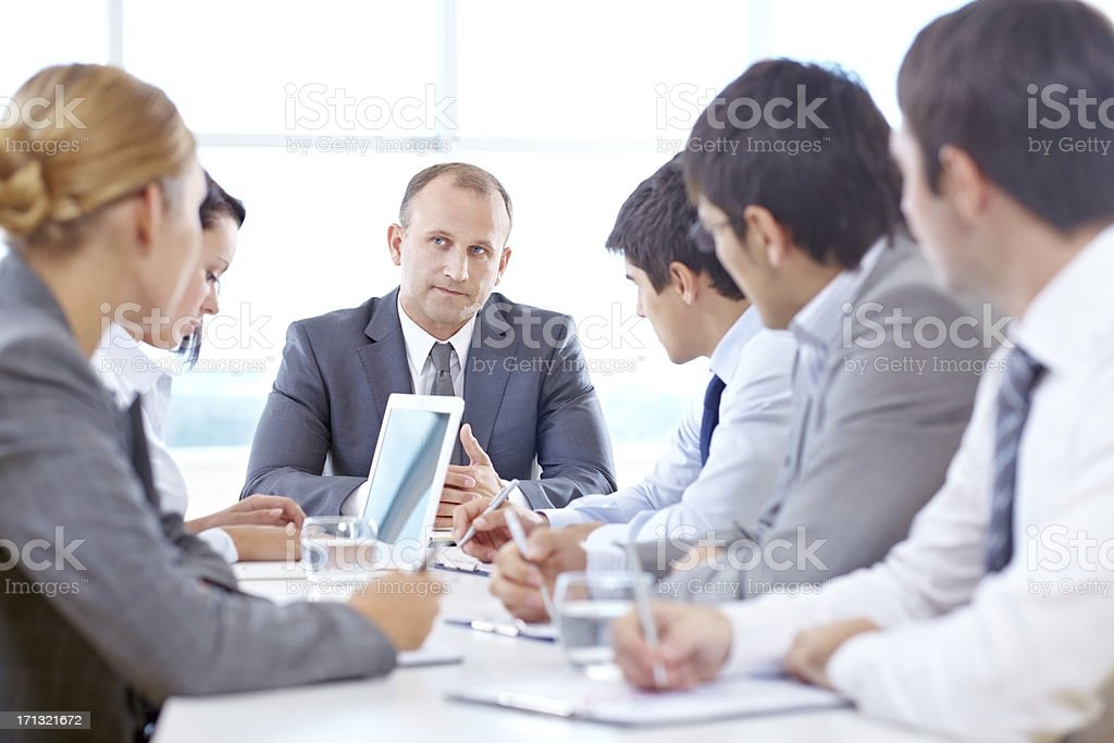 Critical leader royalty-free stock photo