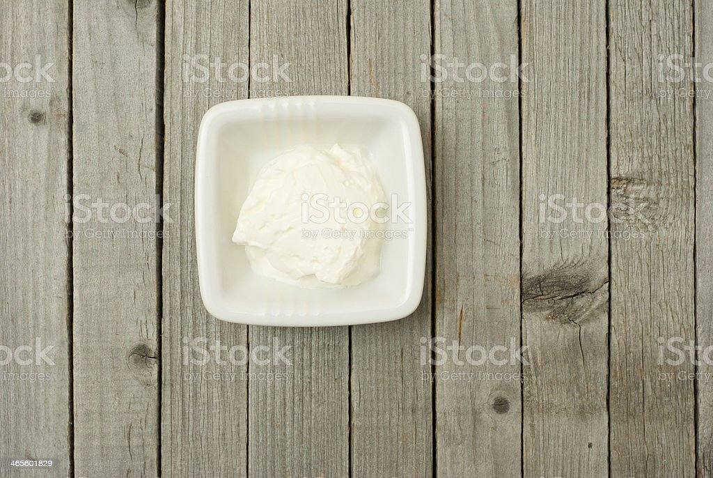 Creme fraiche stock photo