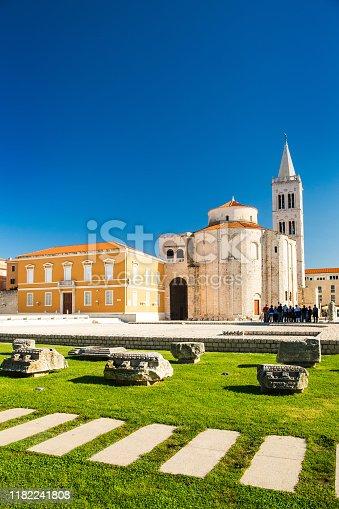 Croatia, city of Zadar, Saint Donatus church on the old Roman forum ruins