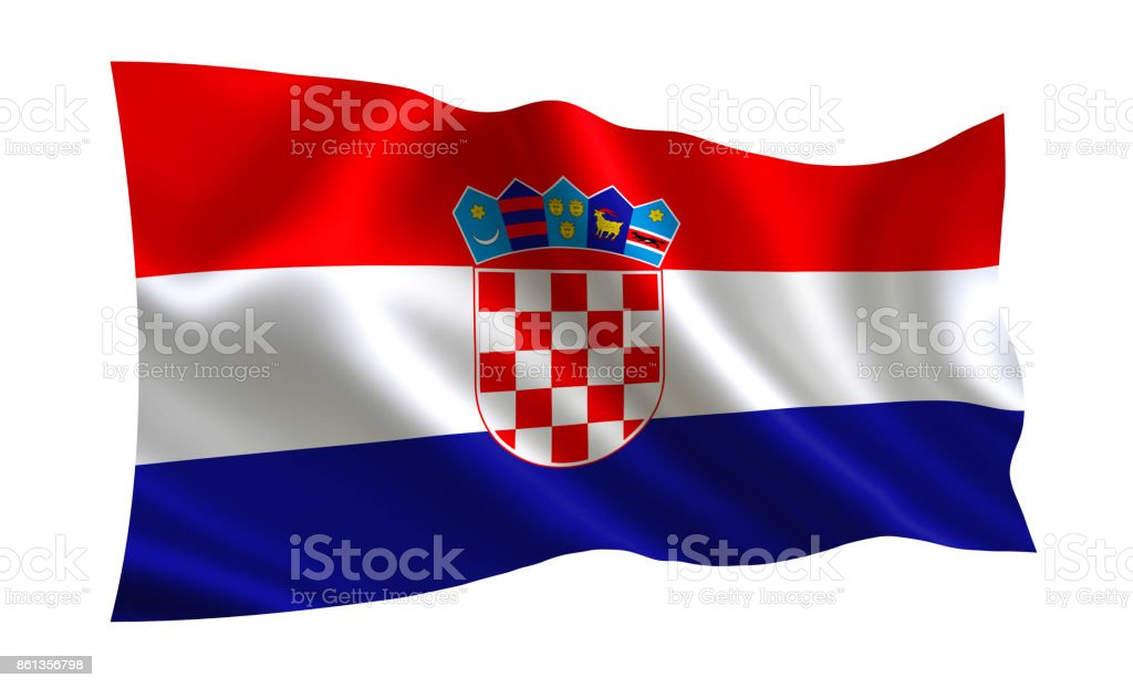 Croatia flag, A series of flags of the world. - foto stock