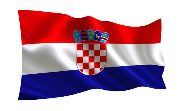 Bandeira da Croácia, uma série de bandeiras do mundo. - foto de acervo