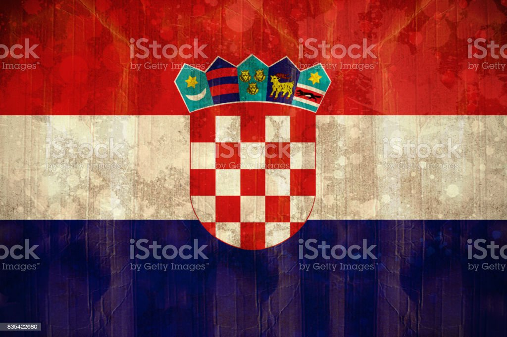 Croatia flag in grunge effect - foto stock