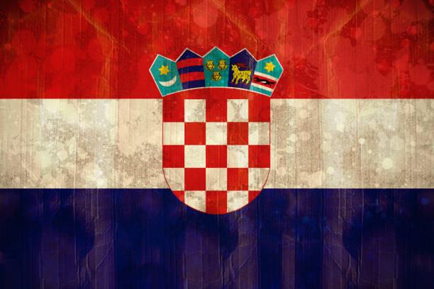 Bandeira da Croácia em efeito grunge - foto de acervo