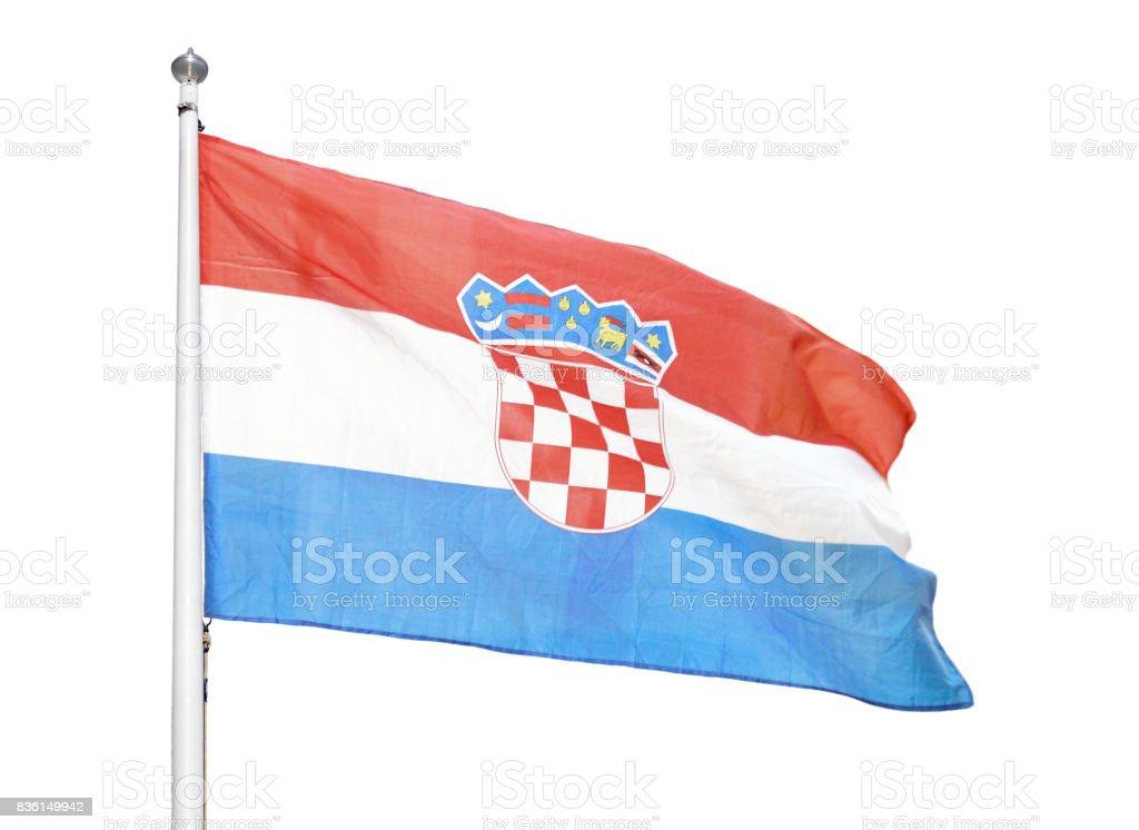 Croatia flag isolated stock photo