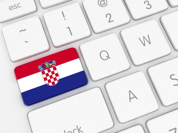 Croatia flag keyboard Croatia flag keyboard croatian culture stock pictures, royalty-free photos & images