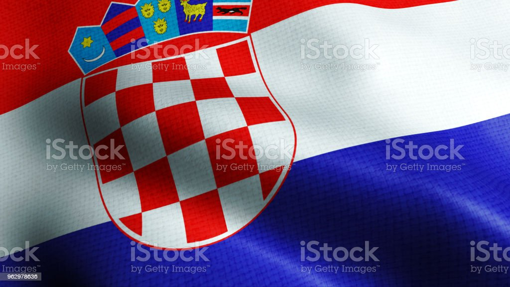 Croatia flag - foto stock