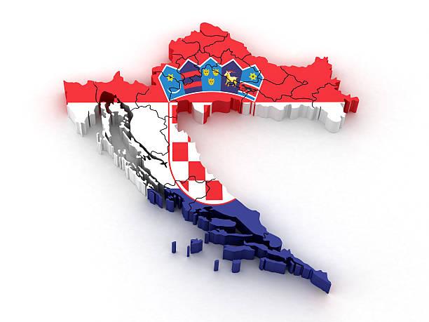 A Croácia mapa - foto de acervo