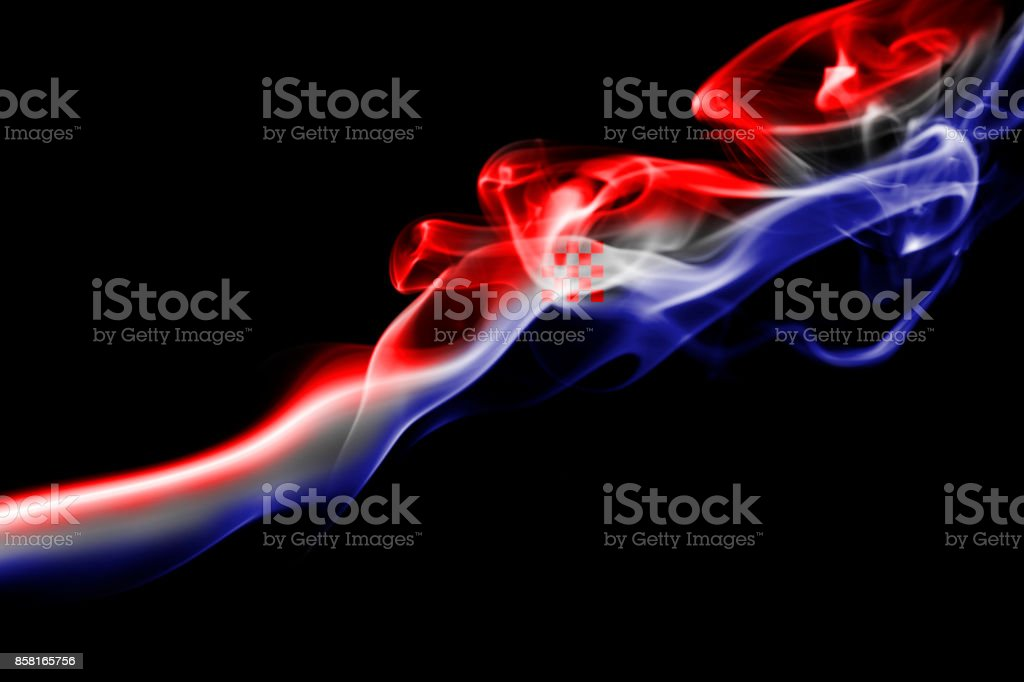 Croatia national smoke flag - foto stock