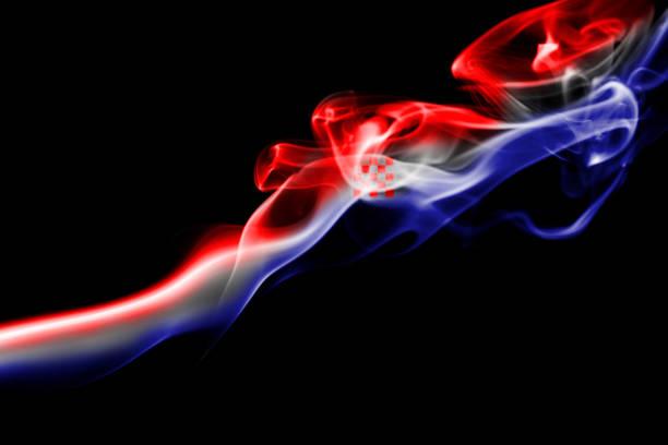 Bandeira fumaça nacional da Croácia - foto de acervo