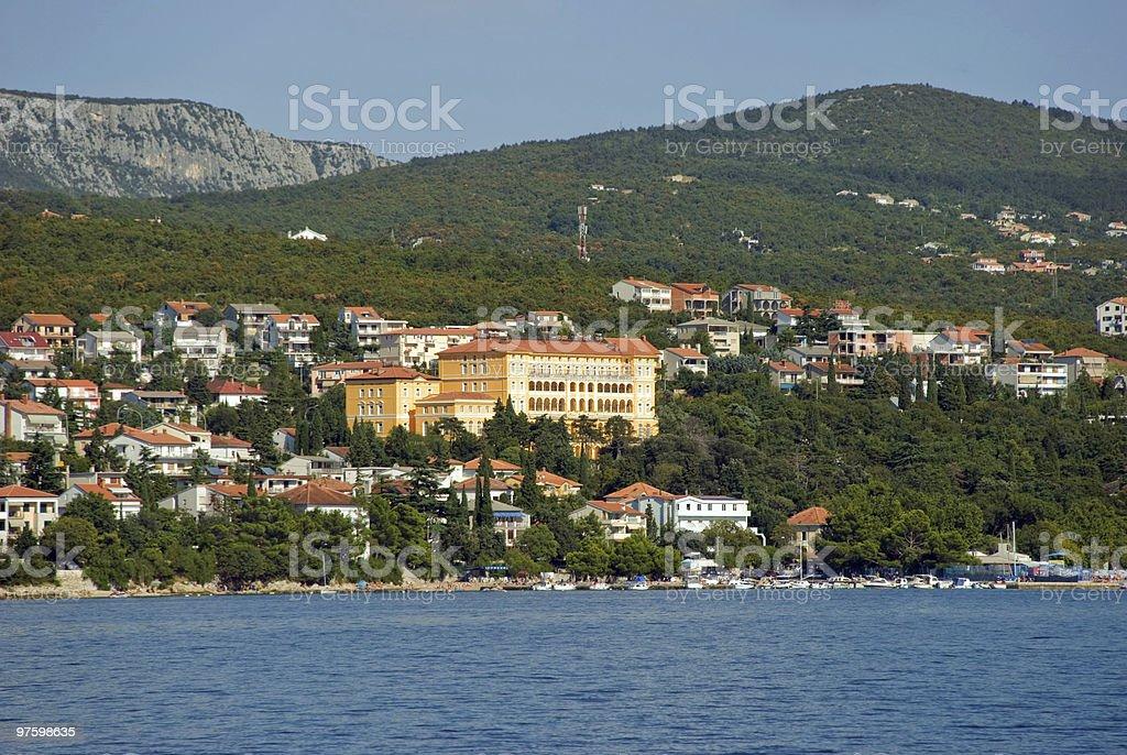 Croatia, Tsrkvenitsa royaltyfri bildbanksbilder