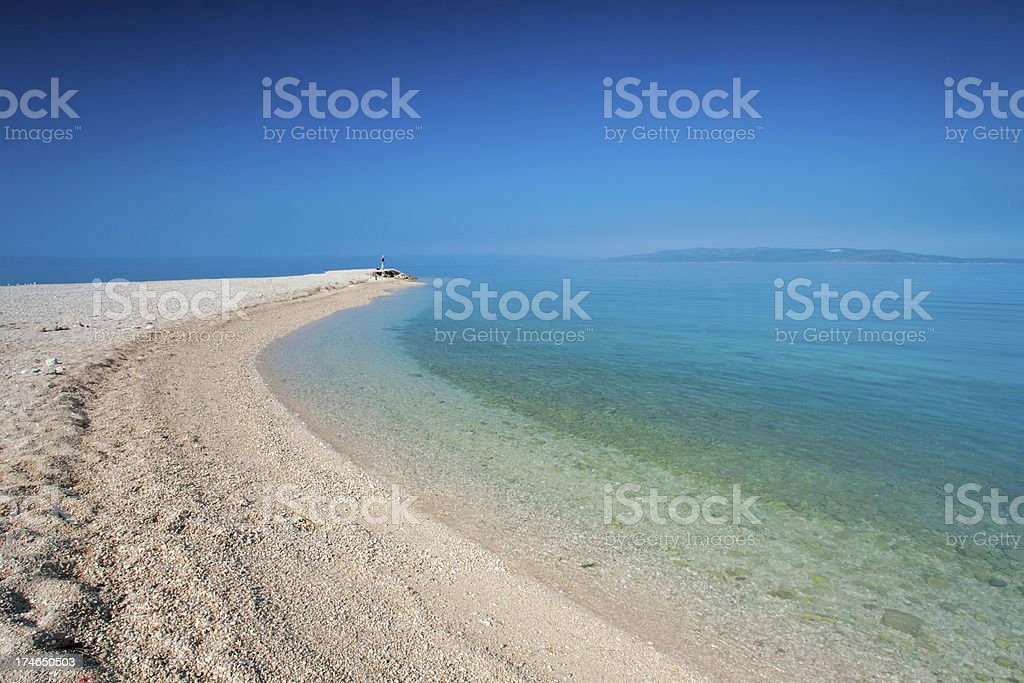 Croatian beach royalty-free stock photo
