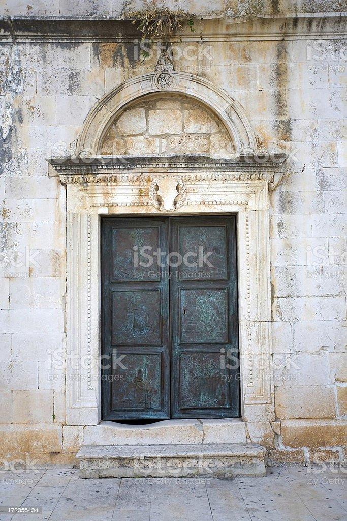 croatian church door royalty-free stock photo