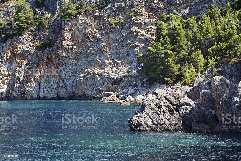 Croatian coast royalty-free stock photo