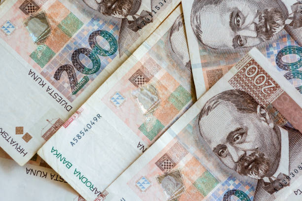 Croatian Currency Banknotes. Set of Croatian Kuna. Croatian Currency Banknotes. Set of Croatian Kuna croatian culture stock pictures, royalty-free photos & images