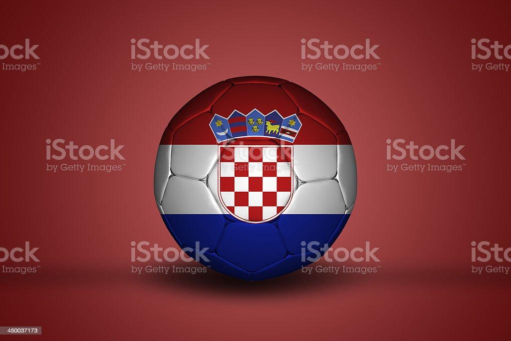 Croatian flag on football royalty-free stock photo