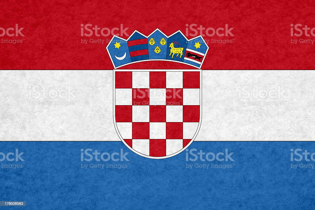 Croatian flag royalty-free stock photo