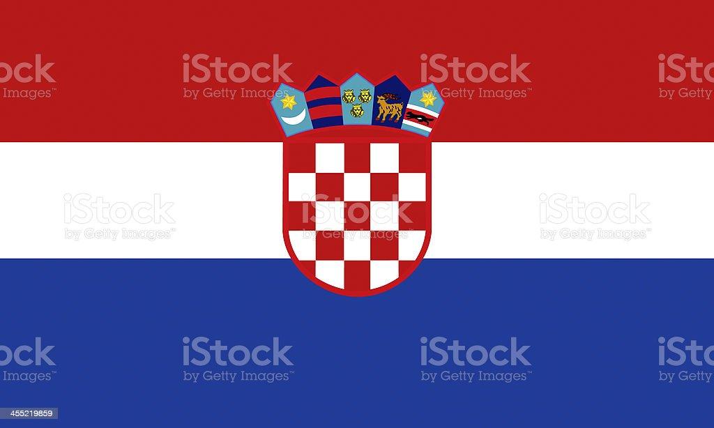 Bandiera della Croazia - foto stock