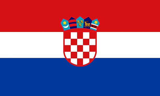 Bandeira croata - foto de acervo