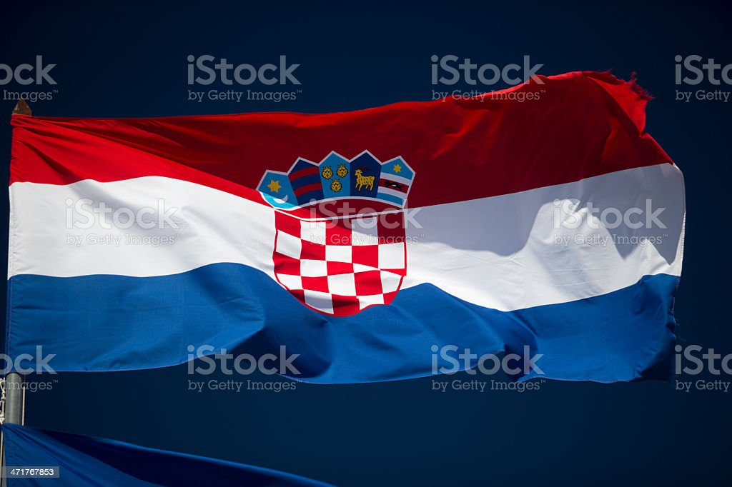 Croatian Flag royalty-free stock photo