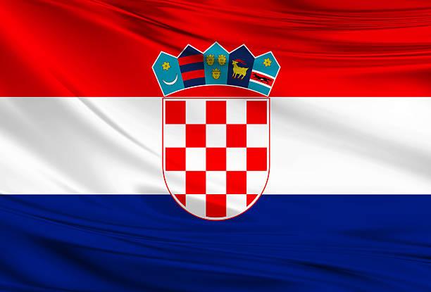 Bandera de croacia - foto de stock