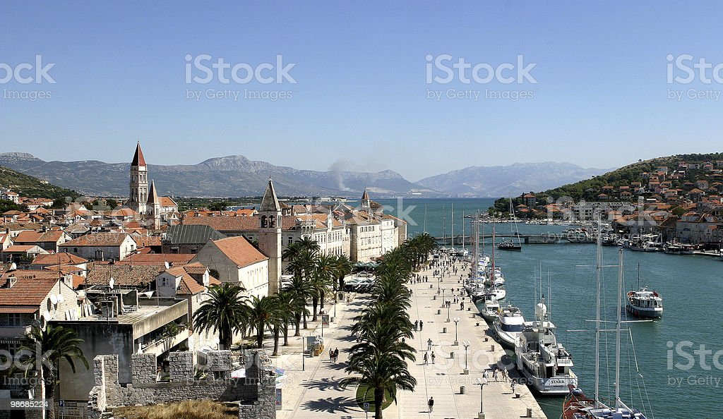 Croatian harbour - Trogir royalty-free stock photo