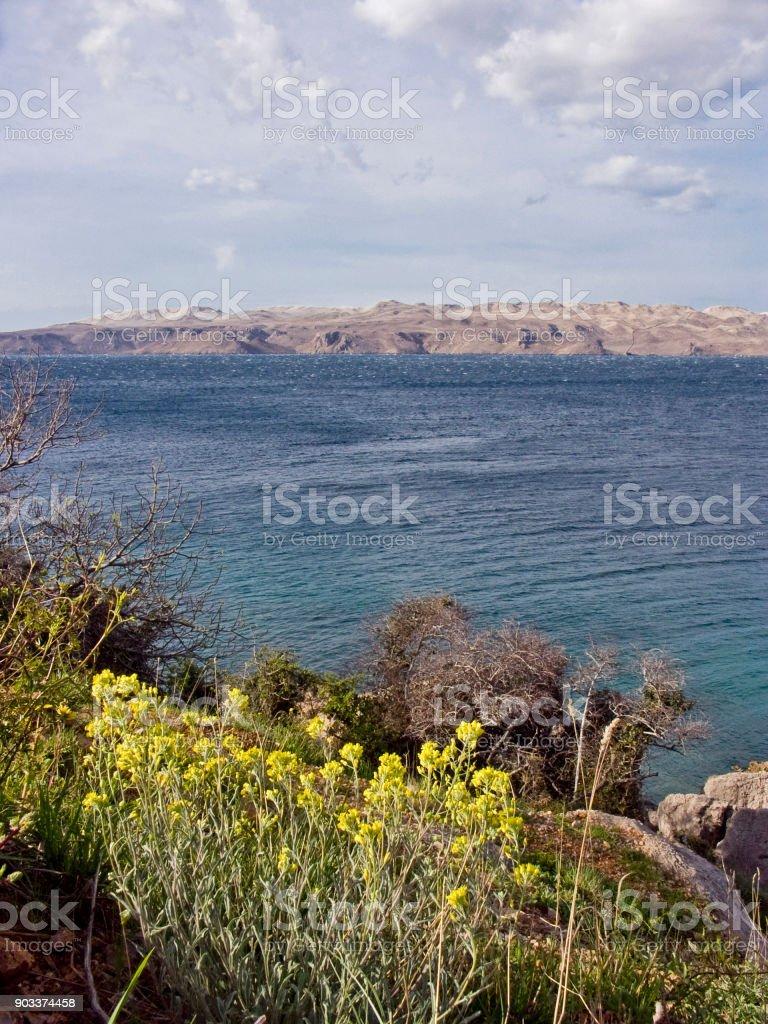 Croatian island of Pag stock photo