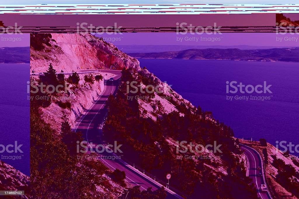 Croatian landscape royalty-free stock photo