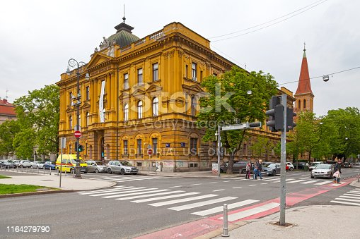 Zagreb, Croatia - April 13 2019: The Croatian Museum of School was opened in 1901. It was founded by Antun Cuvaj. Its main task is to systematically collect, study and present the past and present materials of Croatian education and pedagogy.
