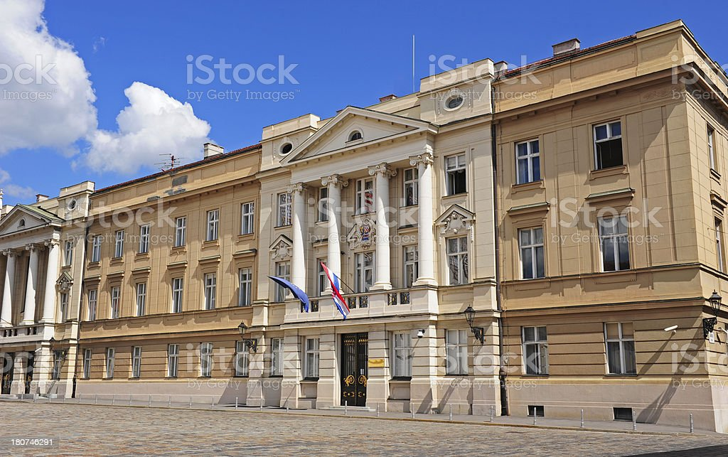 Croatian Parliament building stock photo