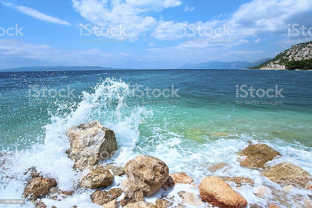 Croatian seascape royalty-free stock photo